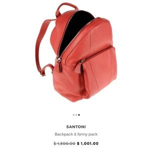 Santoni Backpack Logo Made In Italy